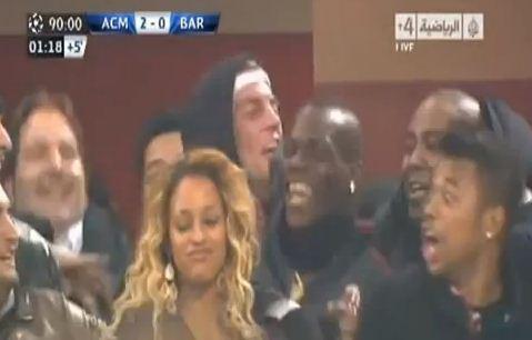 Video: Mario Balotelli goes ballistic as AC Milan win – is he doing the Harlem Shake?
