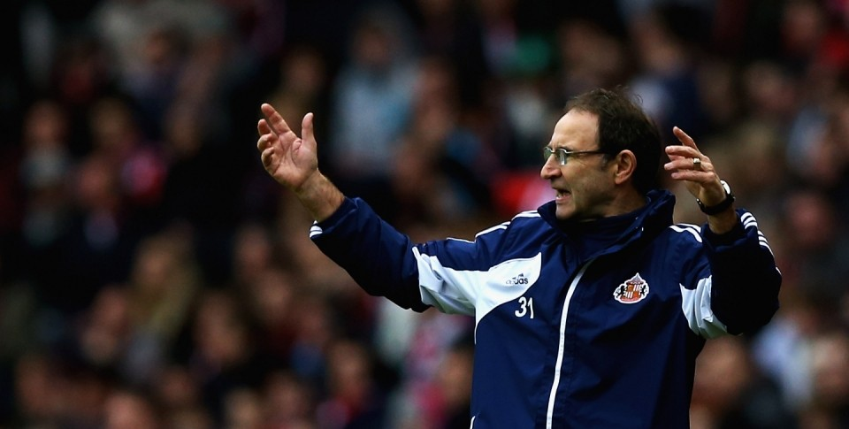 Martin O'Neill set to tinker with Sunderland formation?