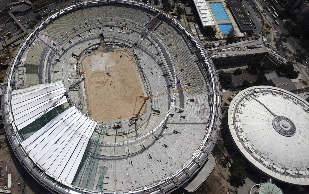 The Maracana Stadium is still undergoing renovation (Picture: Reuters)