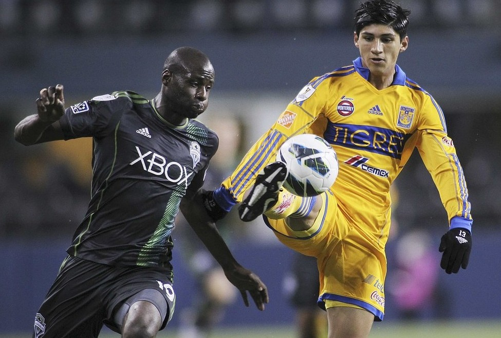 VIDEO: Djimi Traore finds the right net with his screamer for Seattle Sounders