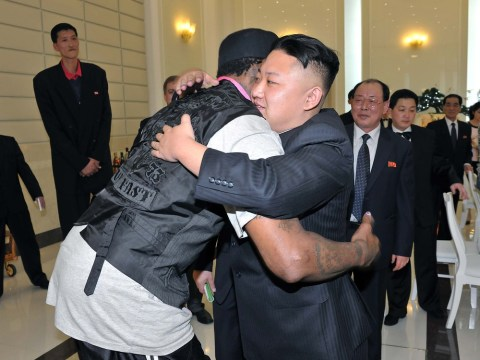 Dennis Rodman says he loves Kim Jong-un as he arrives for birthday exhibition game