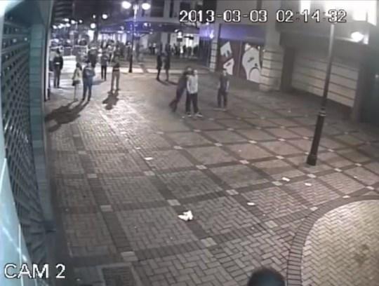 Swindon assault CCTV video