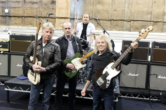 The original Status Quo line-up have reunited (Picture: PA)