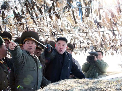 Gallery: Kim Jong-un tries to look aggressive at military inspection