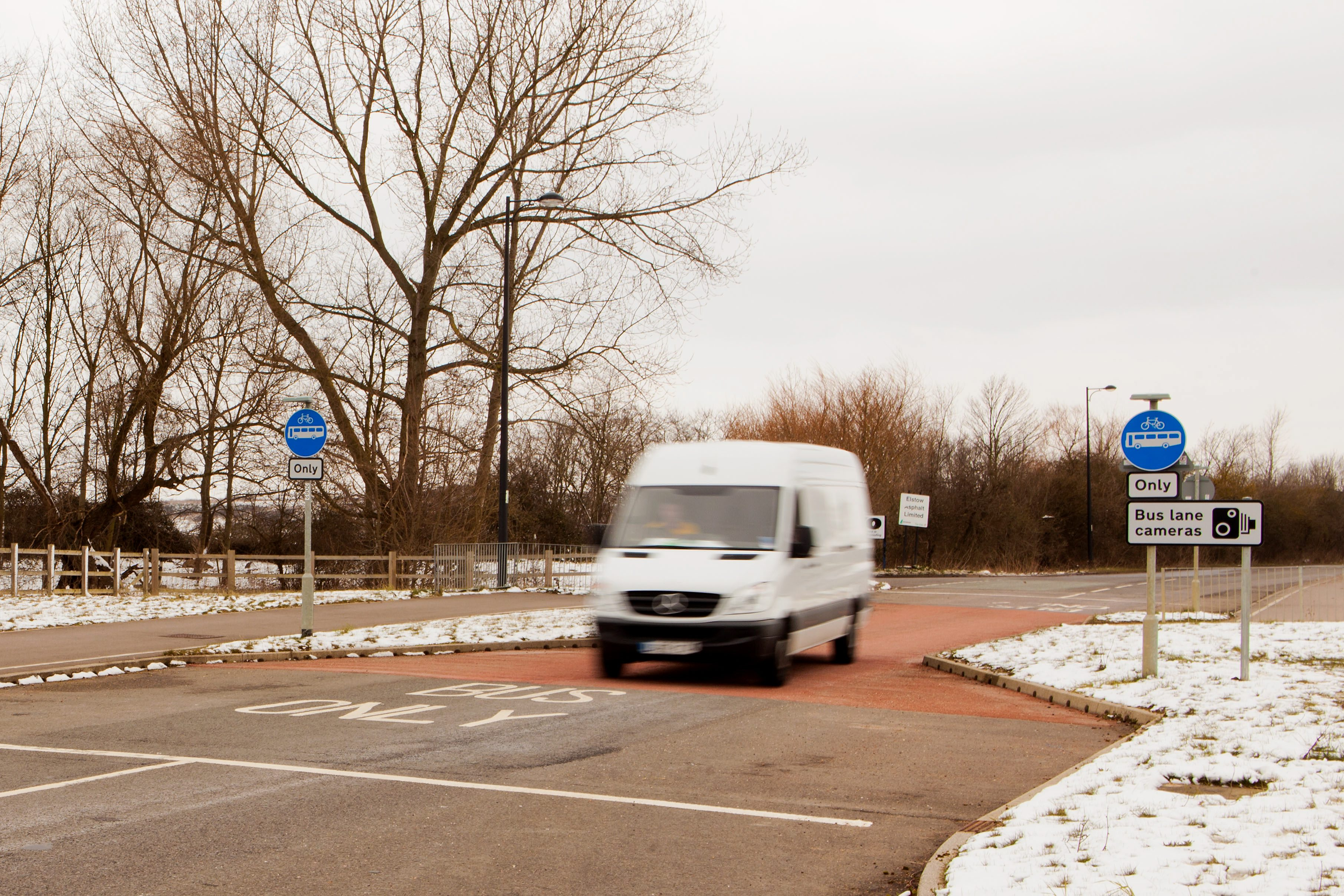 £50 pain over tiny bus lane: Drivers claim ten-metre car-free route is a money-making scam