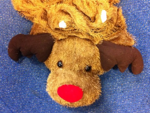 Christmas partygoer saved by Rudolph suit after bottle attack