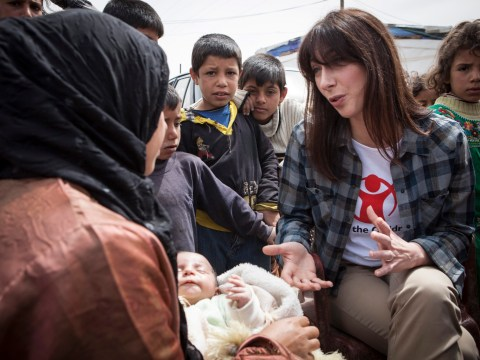 Samantha Cameron hears misery of Syria's 'smashed' children