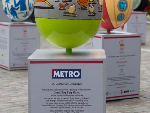 Metro reader's design featured in Lindt Big Egg Hunt