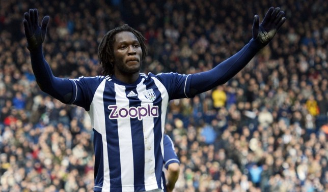 West Bromwich Albion's Belgian striker Romelu Lukaku celebrates scoring the opening goal of the English Premier League football match between West Bromwich Albion and Sunderland at The Hawthorns in West Bromwich, central England, on February 23, 2013. West Brom won the game 2-1. AFP PHOTO/PAUL ELLIS RESTRICTED TO EDITORIAL USE. No use with unauthorized audio, video, data, fixture lists, club/league logos or ìliveî services. Online in-match use limited to 45 images, no video emulation. No use in betting, games or single club/league/player publications.PAUL ELLIS/AFP/Getty Images