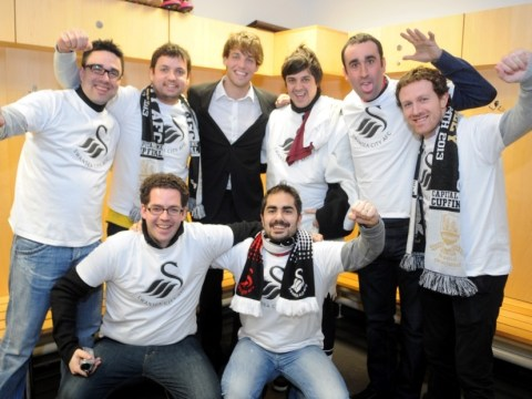 Spanish stags get to meet goal machine Michu at the Liberty Stadium