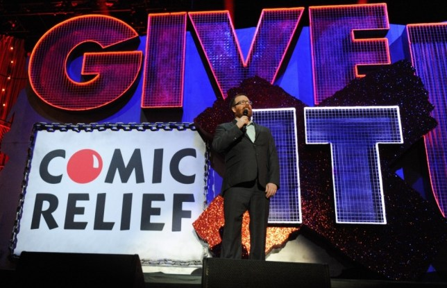 LONDON, ENGLAND - MARCH 06:  Frankie Boyle performs onstage for 'Give It Up For Comic Relief' at Wembley Arena on March 6, 2013 in London, England.  (Photo by Dave J Hogan/Getty Images)