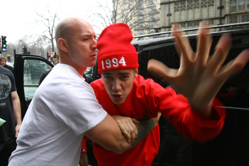 Anger issues? Justin hit headlines earlier this year after lashing out at the paparazzi (Photo: FameFlynet UK)