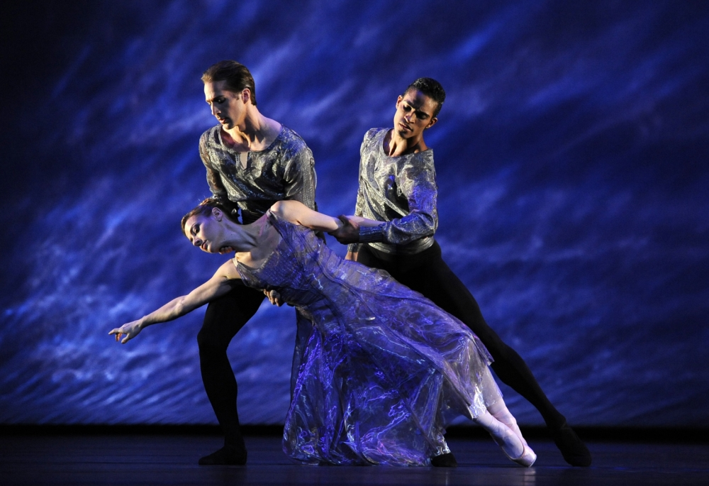 Helen Crawford, Nehemiah Kish and Fernando Montaño in the Royal Ballet's production of Alexei Ratmansky's 24 Preludes (Picture: Robbie Jack/Corbis)
