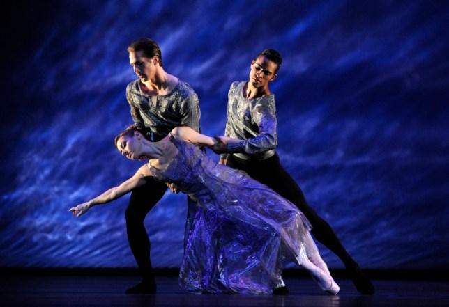 Helen Crawford, Nehemiah Kish and Fernando Montaño in the Royal Ballet's production of Alexei Ratmansky's 24 Preludes (Picture: Robbie Jack/Corbis)