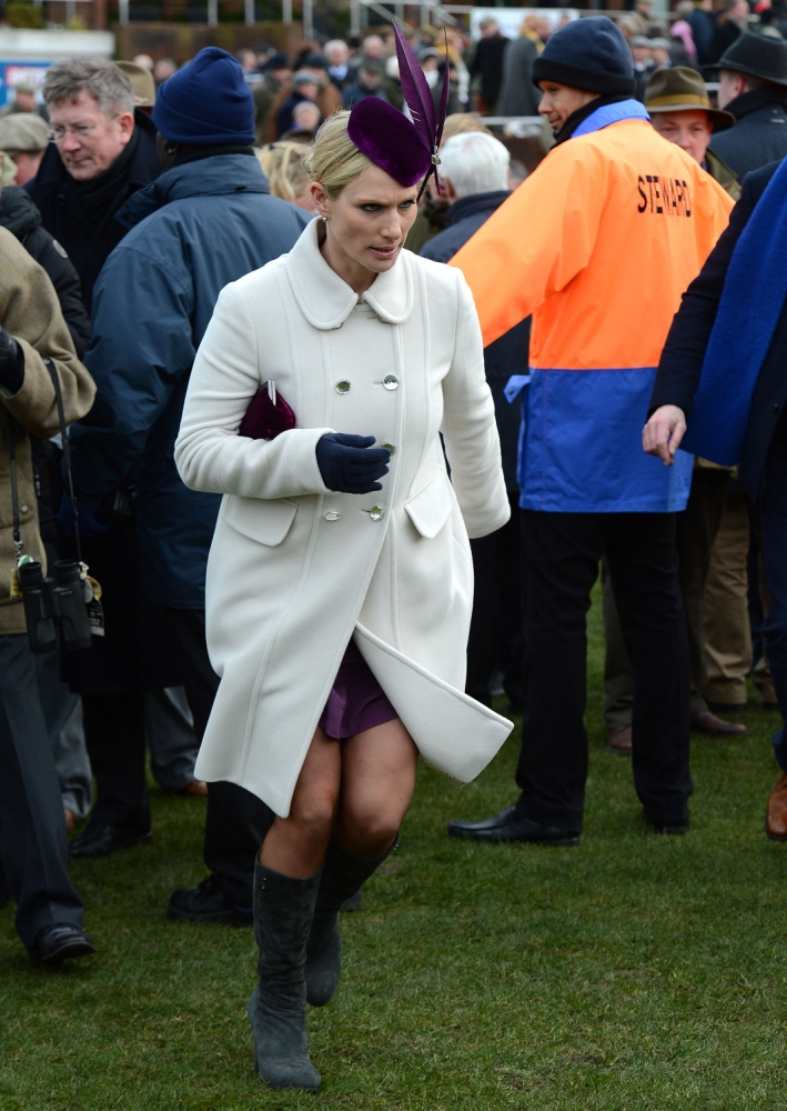 Zara Phillips 'argues with steward' at Cheltenham Festival