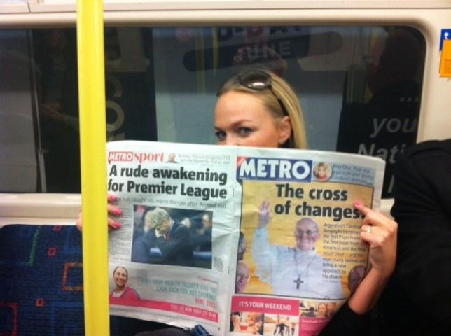 Emma Bunton hit by 'Tube crush' on London Underground