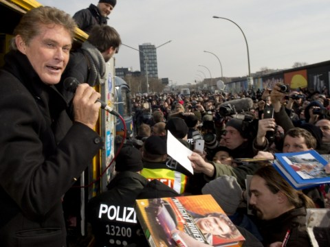 David Hasselhoff campaigns to save Berlin Wall decades after helping bring it down