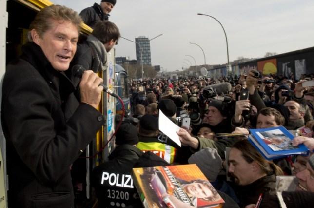 David Hasselhoff, Berlin Wall
