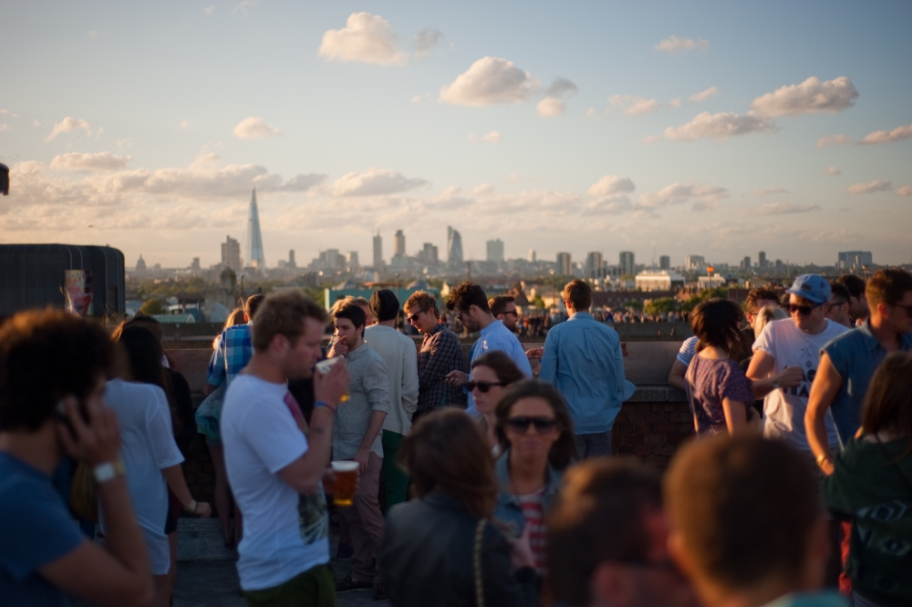 High life: The KB Roof Party on top of the Bussey Building is the hub of SE15's thriving nightlife (Picture: PR)