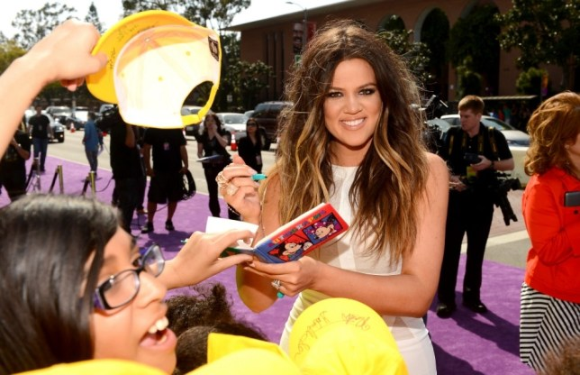 Khloe Kardashian arrives at Nickelodeon's 26th Annual Kids' Choice Awards at USC Galen Center in Los Angeles (Getty)
