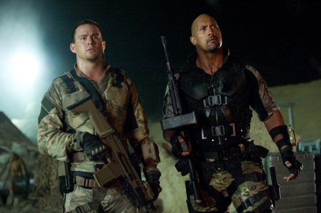 Channing Tatum and Dwayne Johnson in G.I. Joe: Retaliation (Picture: AP Photo/Paramount Pictures/Jaimie Trueblood)