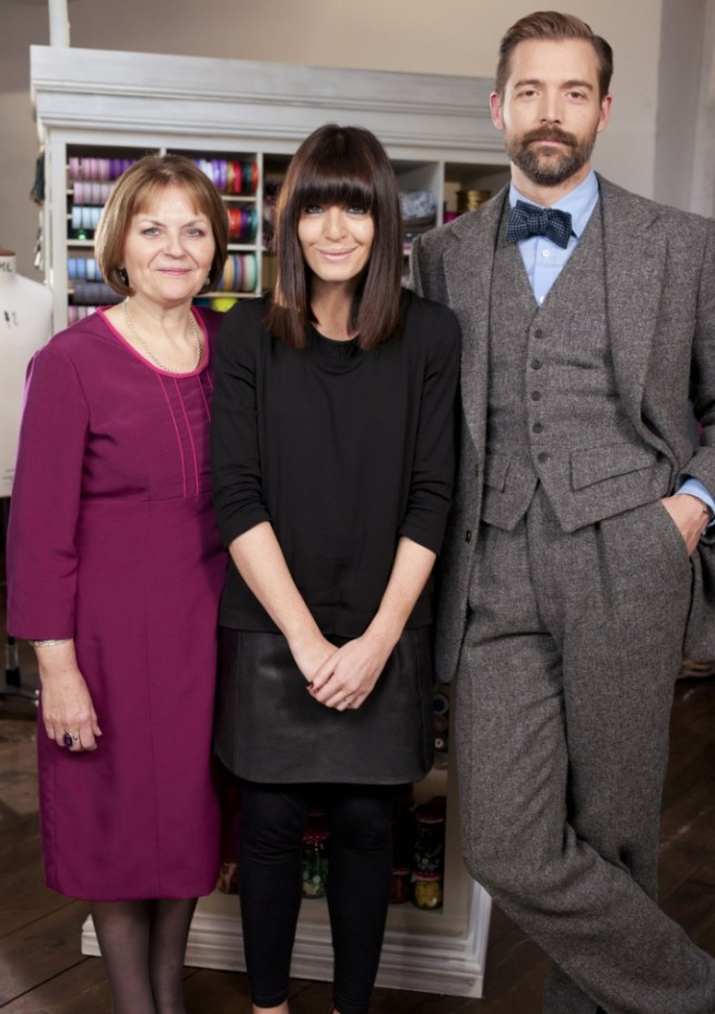 The Great British Sewing Bee with Claudia Winkleman, May Martin, Patrick Grant (Picture: BBC)