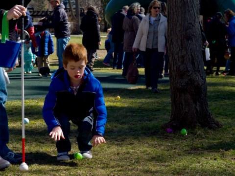 Gallery: Easter Egg hunt for visually impaired children