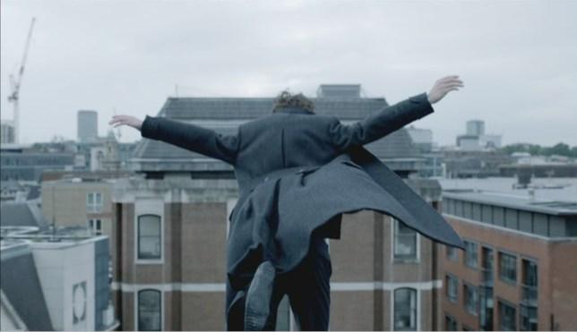 Sherlock rooftop jump
