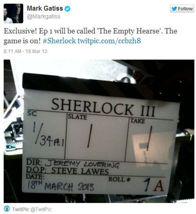 Mark Gatiss took to Twitter to announce the name (Picture: Twitter)