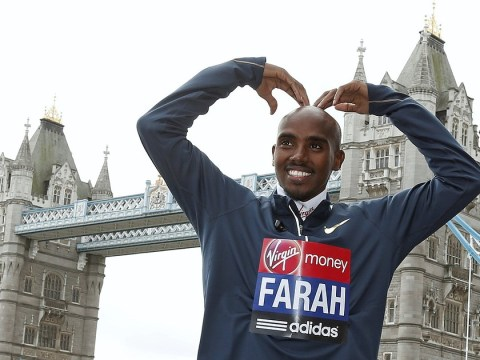 Mo Farah races against time to reach the London Marathon after oversleeping