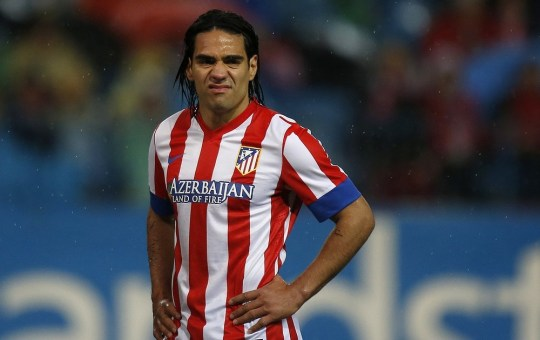 Farewell: Radamel Falcao said his goodbyes at Atletico (Picture: REUTERS)