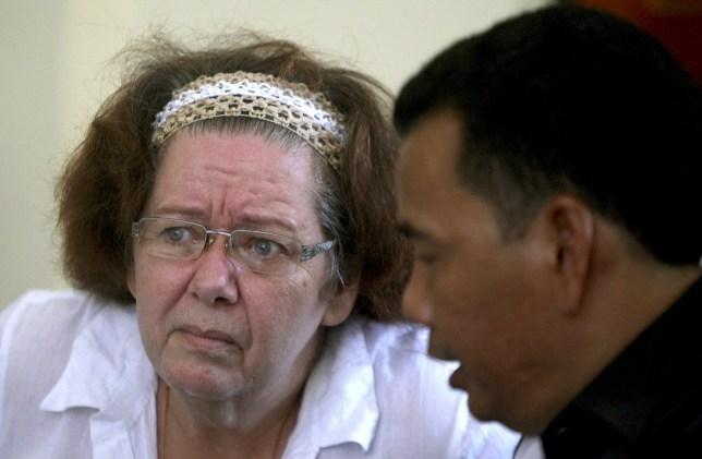 Death sentence: Lindsay Sandiford listens during her trial in October