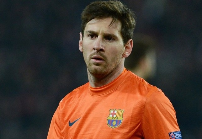 No penalty king: But Messi tried his luck against the robot (Picture: AFP/Getty Images)