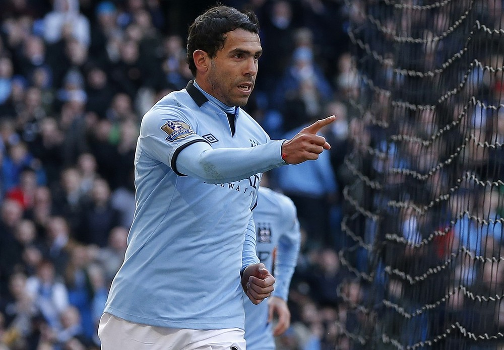 Carlos Tevez joined Manchester City in 2009 in a controversial move from Manchester United (Picture: Reuters)
