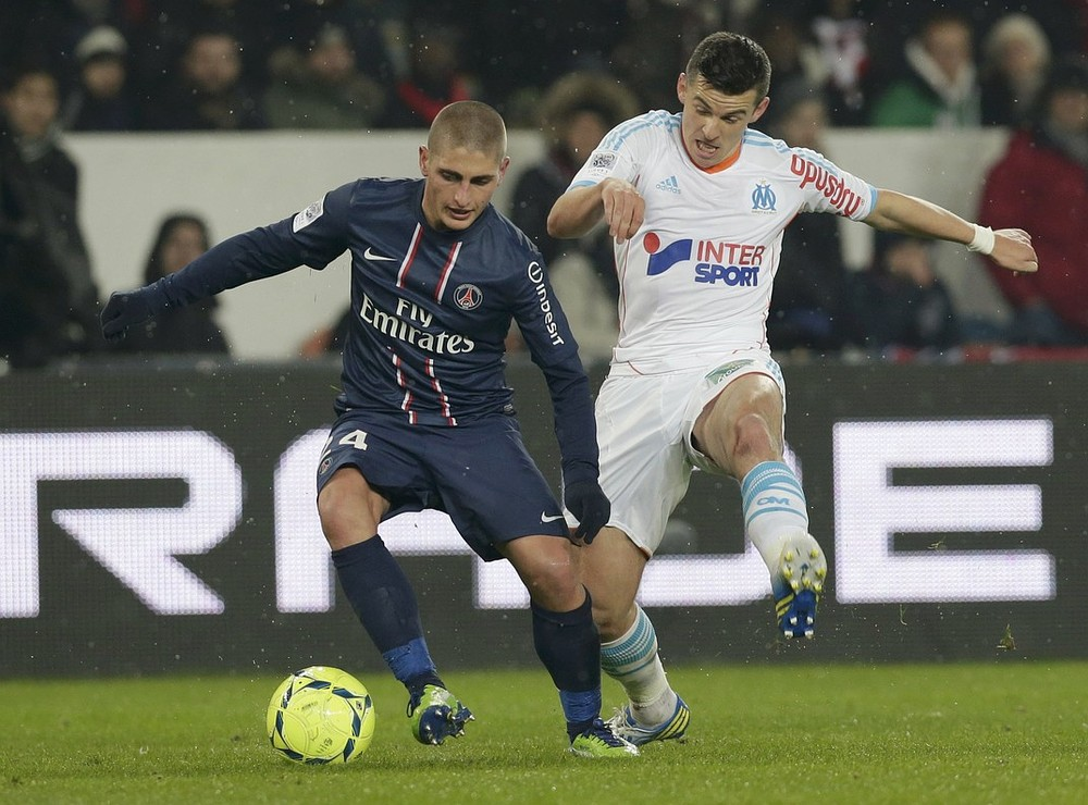Marco Verratti (left) has caught the eye of clubs across Europe (Picture: Reuters)