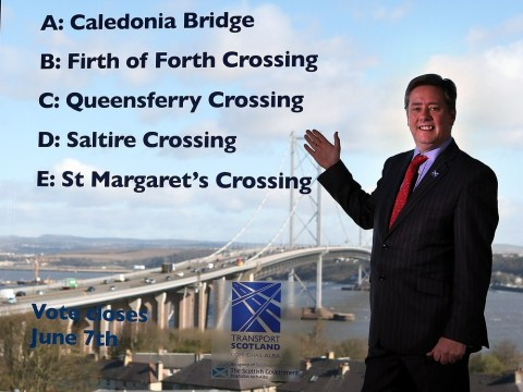 Five contenders in bid to name new Forth crossing – but Kevin Bridges ruled out