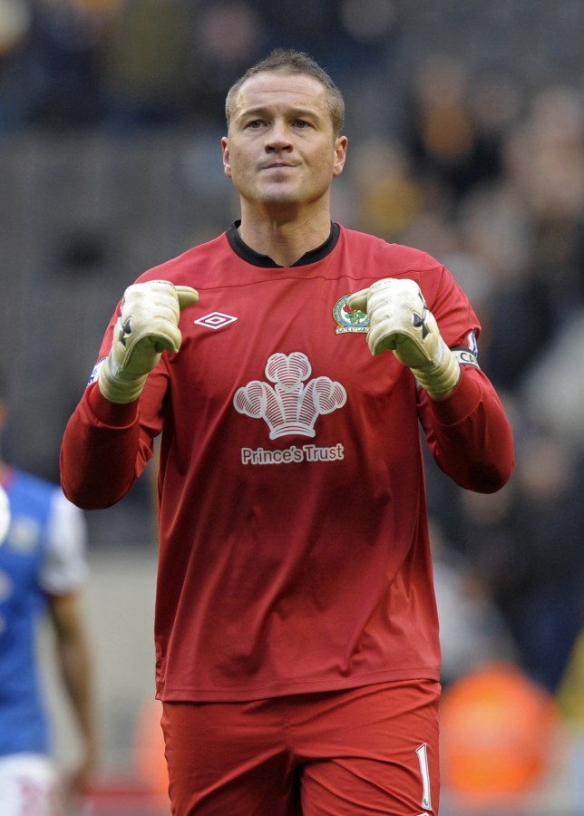 Blackburn Rovers' English goalkeeper Pau