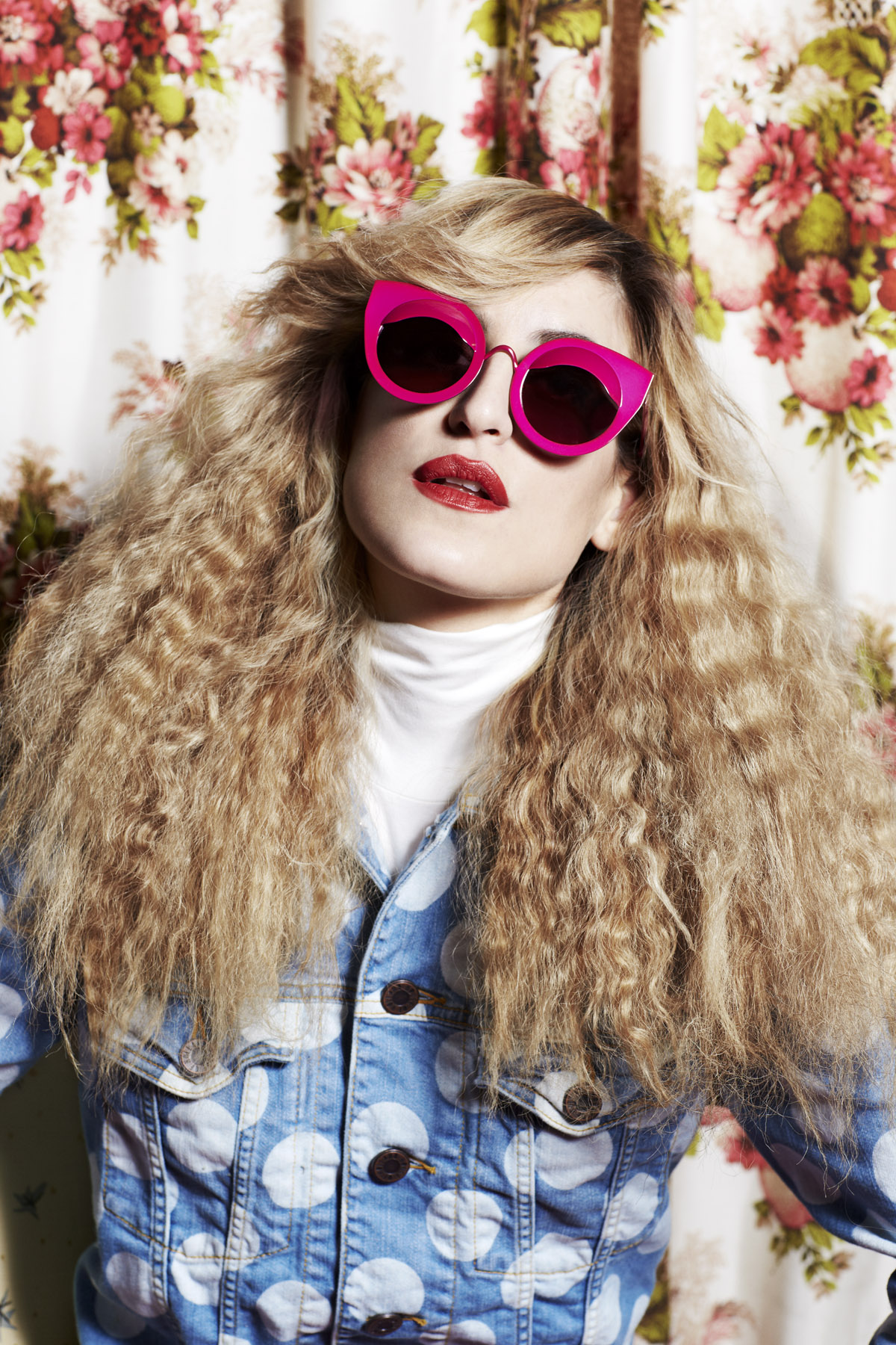 Goth grunge queen Ioanna models House of Holland SS13 eyewear