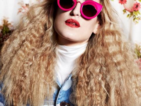 Goth grunge queen Ioanna models House of Holland SS13 eyewear