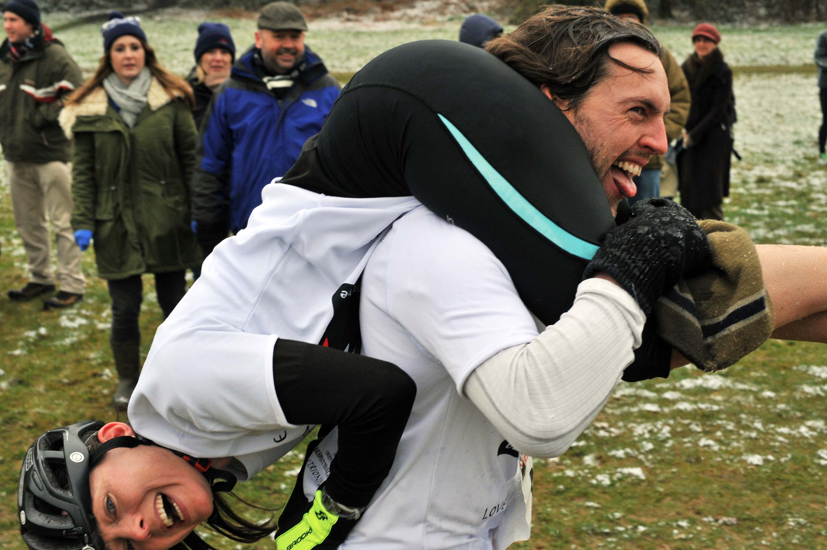 The UK Wife Carrying Championships are a right carry-on