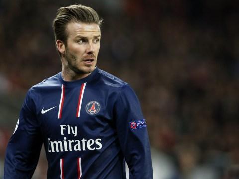 Gallery: David Beckham starts for PSG against Barcelona
