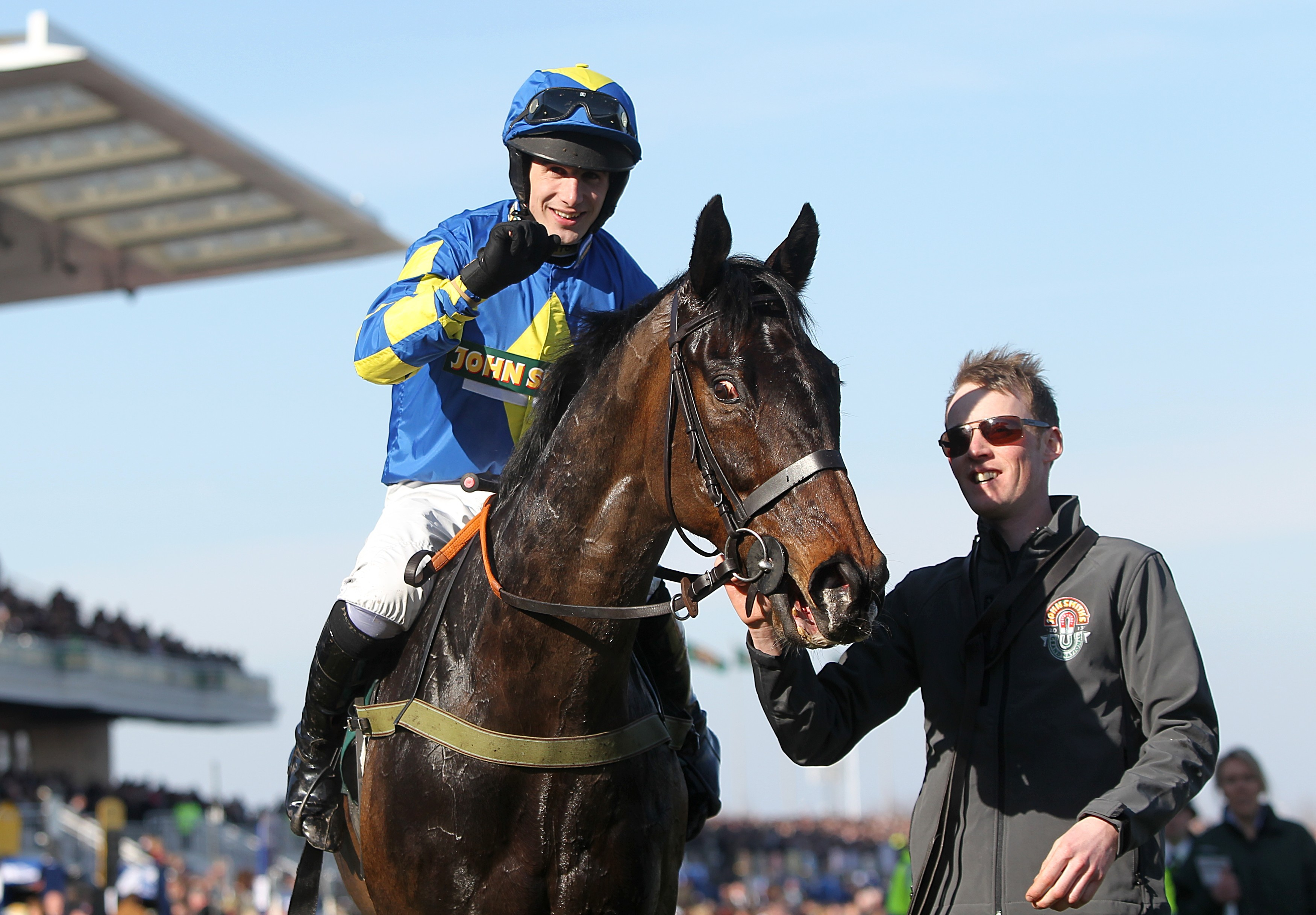 Grand National winner Ryan Mania rushed to hospital after fall at Hexham