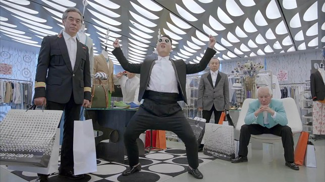 Psy has unleashed a new single and dance (Picture: YouTube)