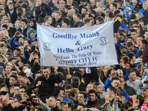 Cardiff fans celebrate promotion with cheeky banner for Gary Lineker and Manish Bhasin