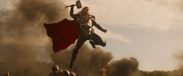 God: Chris Hemsworth plays Thor in the Marvel film series of his character and got his first break in soaps (Picture: Marvel)