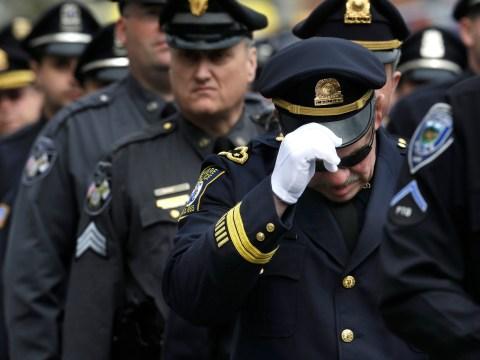 Gallery: Joe Biden leads tributes MIT police officer in Boston