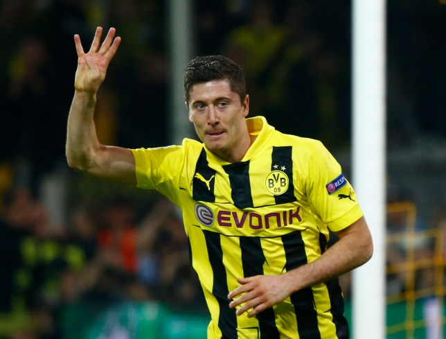 wholesale dealer 00600 67786 Robert Lewandowski scores four as Borussia Dortmund thrash ...