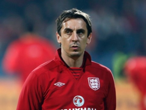 Manchester United legend Gary Neville pictured in Valencia as he begins managerial career