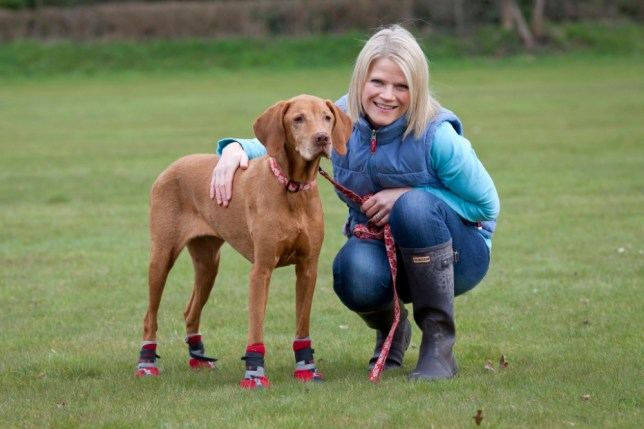 Millie with her owner Vicki Painter