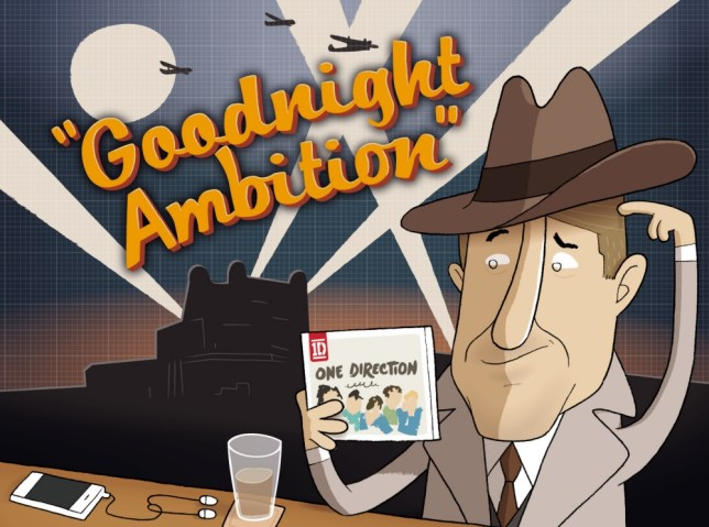 Richard Herring ponders the lack of ambition in Goodnight Sweetheart (Picture: The Boy Fitz Hammond/NB illustration)